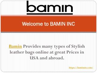 Buy Stylish Leather Briefcase and Office Bags at Baminate