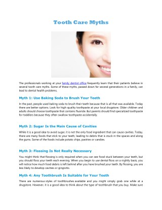 Tooth Care Myths
