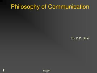Philosophy of Communication