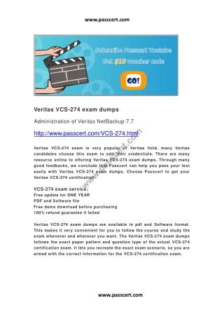 Veritas VCS-274 exam dumps