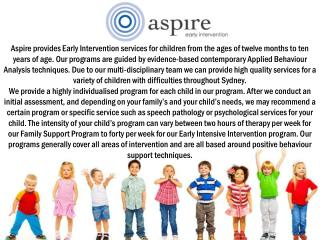 Early Intervention Services by Aspire