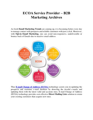ECOA Service Provider - B2B Marketing Archives