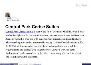 Central Park Cerise Suites