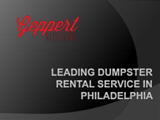 Leading Dumpster Rental Service in Philadelphia