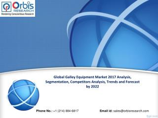 Global Galley Equipment Market Worth $6.8 Billion by 2022