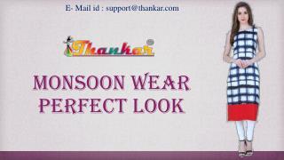 New Monsoon Wear Perfect Look Kurtis