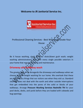 Floor Cleaning Services Nashville TN and Cleaning Services Nashville TN by using www.jrjanitorialservice.com