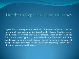 Northern Cyprus Visa consultancy in india