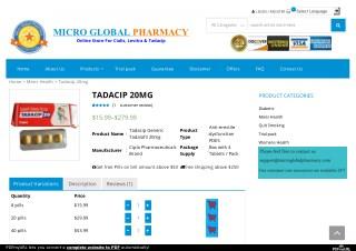 Buy Online Tadacip 20 Mg USA