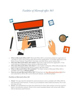 Facilities of Microsoft office 365