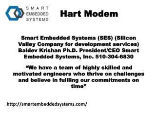 Embedded system design and services - smartembeddedsystems.com- industrial automation devices- modem for hart- hart hard