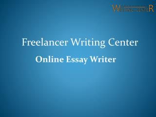 Online Essay Writer
