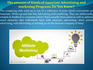 The amount of Kinds of Associate Advertising and marketing Programs Do You Know