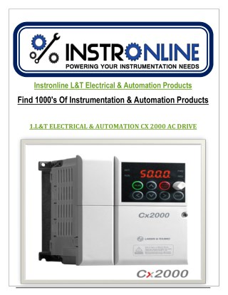 Instronline L&T Electrical & Automation