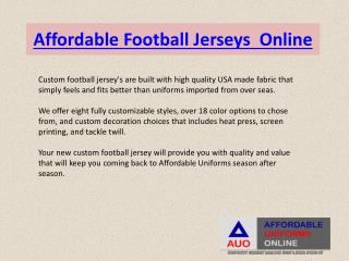 Affordable Football Jerseys Online