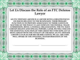 Gordon Law Group | Protect Your Business With An FTC Defense Lawyer