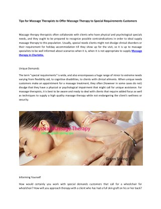 Green Spring SPA | Asian Massage Place | Day Spa in Charlotte, NCCharlotte Massage