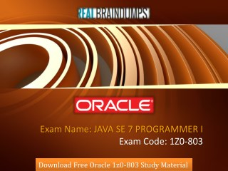 Pass ORACLE 1Z0-803 Exam - Test Questions