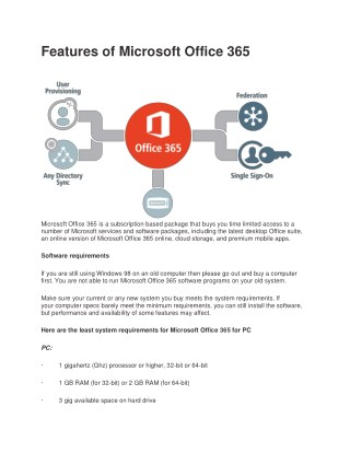 Features of Microsoft Office 365