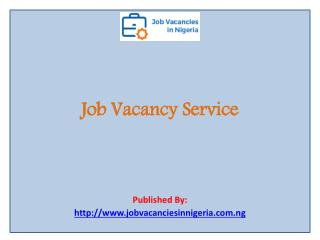 Job Vacancy Service