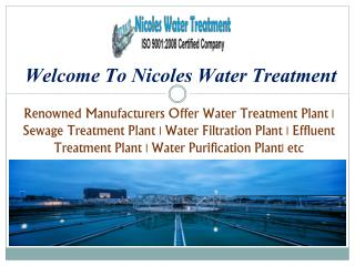 Sewage Water Treatment Plant in Delhi