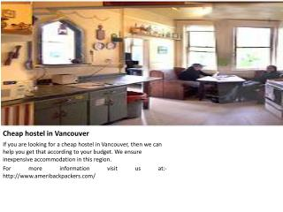 Vancouver hostel