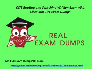 Get 400-101 Questions Answers - Cisco 400-101 Exam Dumps RealExamDumps