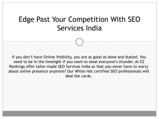 Edge Past Your Competition With SEO Services India