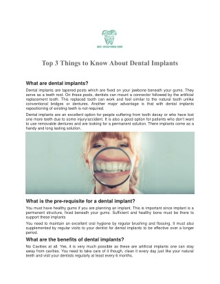 Dental Implants Treatment in Delhi at Merakidentalstudio