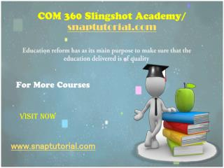 COM 360 Slingshot Academy / snaptutorial.com