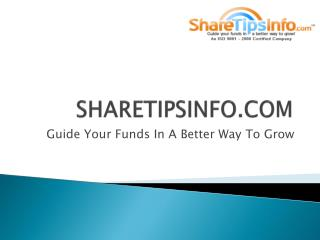 Stock market tips | Forex Tips |Commodity tips |About Sharetipsinfo