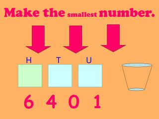 Make the smallest number.