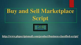 Buy and Sell Marketplace Script