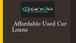 Affordable Used Car Loans