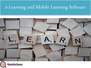 e-Learning and Mobile Learning Software
