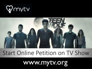 MyTV - Revive & Renew TV Show Petition