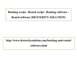 Booking script - Rental script - Booking software - Rental software