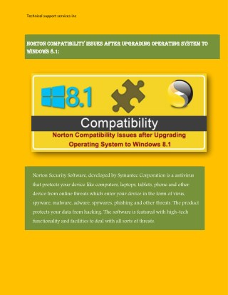 Deal with Norton Internet Security problems with Immediate Support