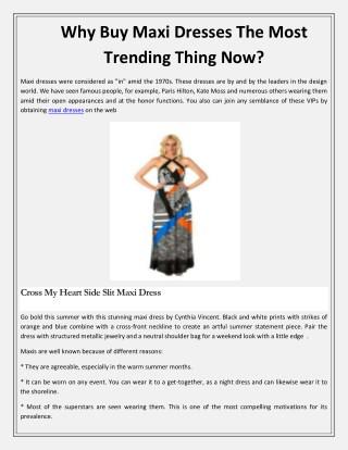 Buy Maxi Dresses   Shop Lexxa