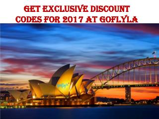 Get exclusive discount codes for 2017 at goflyla