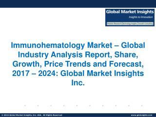 Immunohematology Market forecast to witness phenomenal growth opportunities by 2024