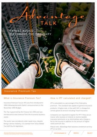 Advantage Talk - Insurance Premium Talk Increase