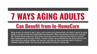 7 Ways Aging Adults Can Benefit from In-Home Care