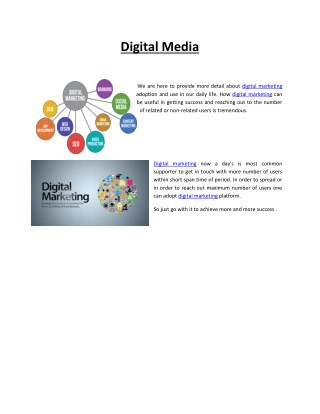 Digital Marketing/Media For You