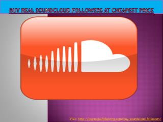 Buy Real Soundcloud Followers at Cheapest Price