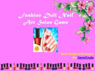Fashion Doll Nail Art Salon Game