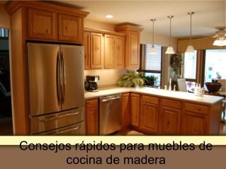 Consejos rápidos para muebles de cocina de madera