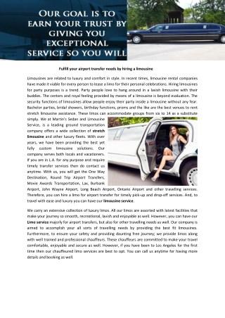 Sedan service