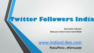 Buy Twitter Followers India
