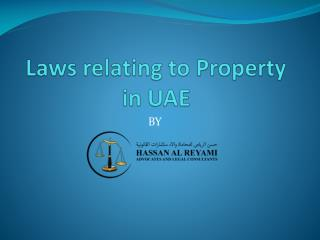 Laws relating to Property in UAE